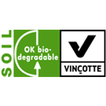 OK Biodegradable SOIL label symbool