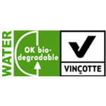 OK Biodegradable WATER label symbool